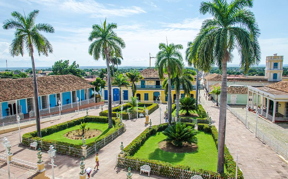 Town center in Trinidad