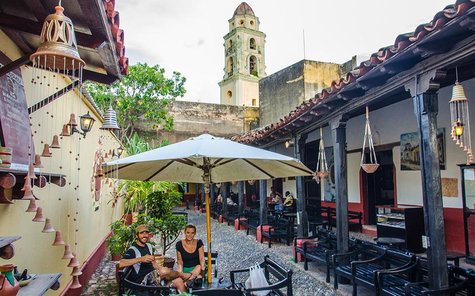 Open air cafe in Trinidad, Cuba